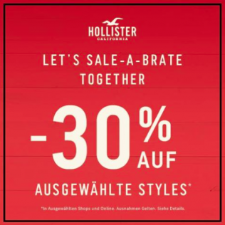 Let's sale-a-brate bei Hollister!