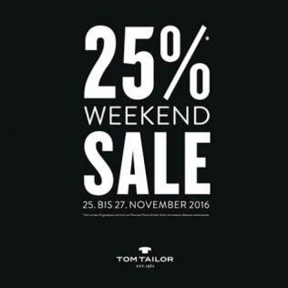 Sale-Weekend bei TOM TAILOR!