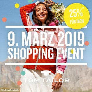 Shoppingevent on 9 March